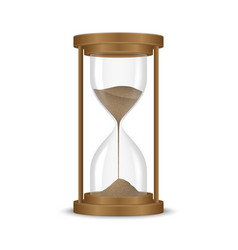 Sand hourglass clock vector
