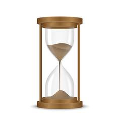 sand hourglass clock vector image