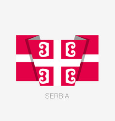 Serbian cross national symbol of serbia flat vector