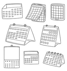 Set of calendar vector