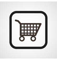Shop Basket Icon Flat vector