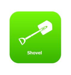 shovel icon green vector image
