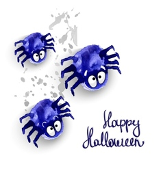 Spyders halloween vector image