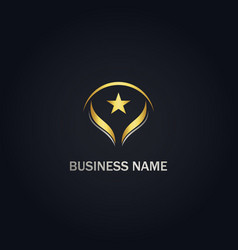 Star pride abstract company gold logo vector