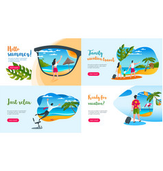 summer vacation concepts vector image