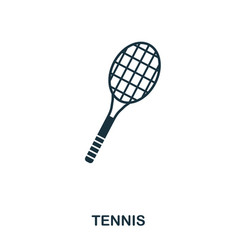 tennis icon premium style icon design ui vector image