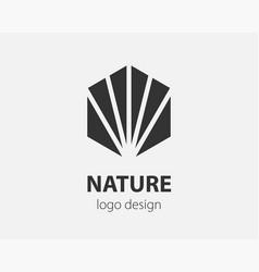 trend logo hexagon tech design technology vector image