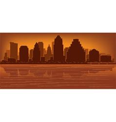 austin texas skyline vector image vector image