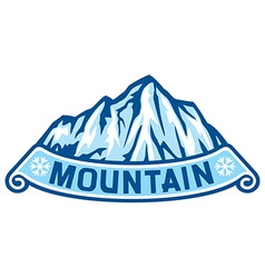 Mountain label vector image