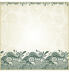 ornamental stripes in floral background vector image