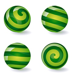 striped spherical icons vector image