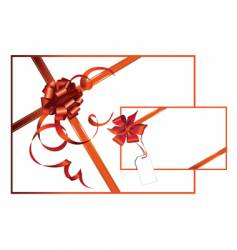 celebratory card with red ribbon vector image vector image