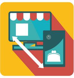 network market icon vector image