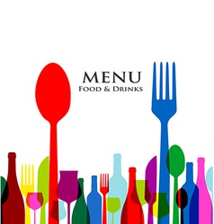 retro cover restaurant menu designs on white vector image vector image