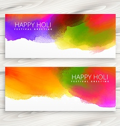 set of happy holi banners and headers vector image vector image