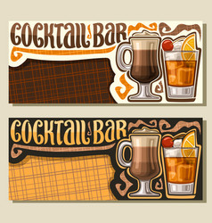 Banners for cocktail bar vector