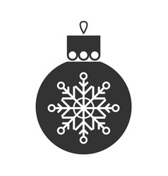 christmas toy symbol black flat icon vector image vector image