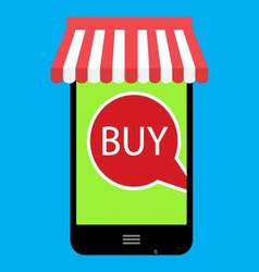 Buy onlline with web store vector image vector image