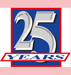 25 years anniversary celebration logotype banner vector image