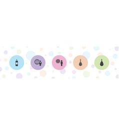 5 effort icons vector