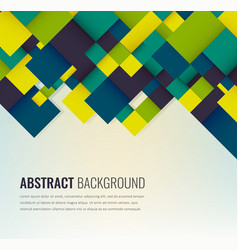 Abstract background with colorful squares vector