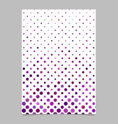 Abstract dot pattern brochure design - stationery vector