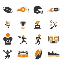 American Football Icons vector image