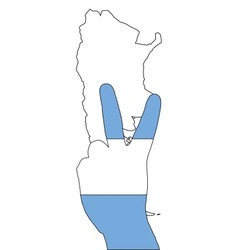 Argentinian finger signal vector image