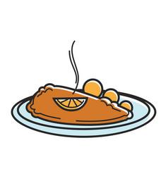 Austria wiener schnitzel cutlet austrian tourism vector