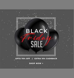 awesome black friday sale banner in dark vector image