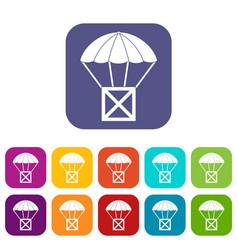 Balloon icons set vector