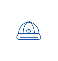 baseball cap line icon concept baseball cap flat vector image