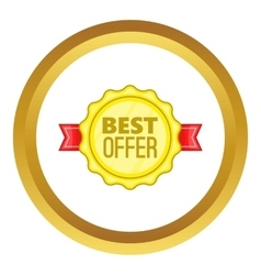 Best offer label icon vector