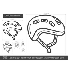 bike helmet line icon vector image