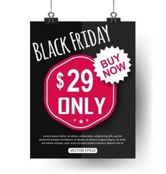 Black Friday Super Sale flyer vector