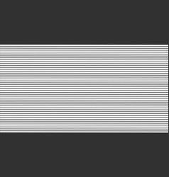 black horizontal stripes pattern seamless texture vector image