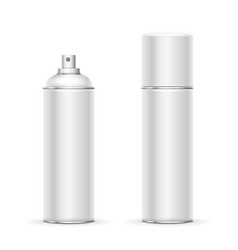 blank aluminum spray can hairspray deodorant vector image