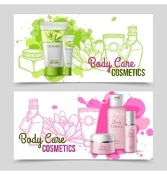 Body care products 2 banners set vector