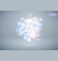 bokeh effect multicolor light background blue vector image
