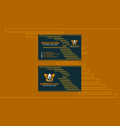 business card clean modern template vector image