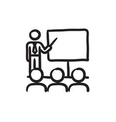 Business presentation sketch icon vector