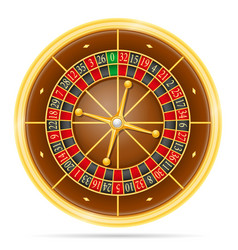 casino roulette stock vector image