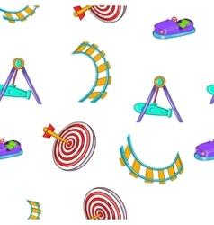 Children rides pattern cartoon style vector image vector image
