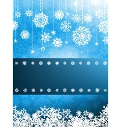 Christmas card with christmas snowflake EPS 8 vector image