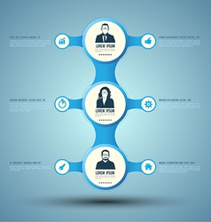 Circle relationship business concepts with vector