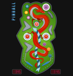 Colored and realistic pinball composition vector