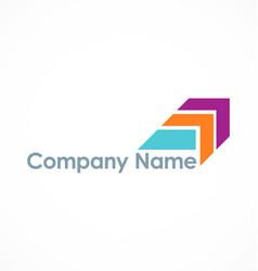 colored arrow company logo vector image