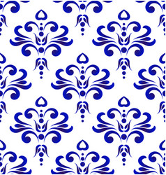 decorative pattern blue and white vector image
