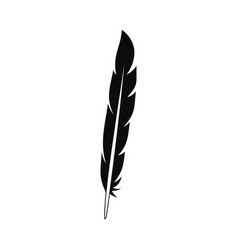 Design feather icon simple style vector
