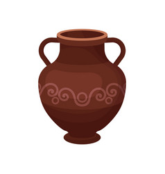 Flat icon of large ceramic jug with two vector
